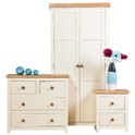 Jamestown 2 Door Wardrobe, 2+2 Drw Chest, Bedside Package Offer.