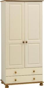 Richmond Cream 2 Door 2 Drawer Wardrobe