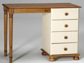 Kingston Cream Single Pedestal Dressing Table