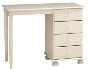 Richmond white painted single pedestal dressing table