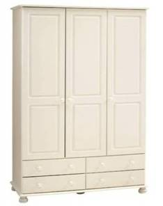 Richmond white painted triple wardrobe