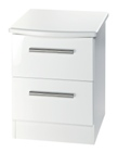 Knightsbridge 2 Drawer Bedside