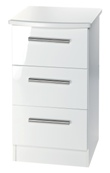 Knightsbridge 3 Drawer Bedside