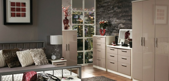 Knightsbridge High Gloss Bedroom Furniture