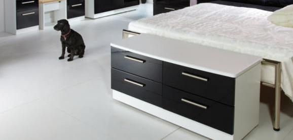White And Black Gloss Bedroom