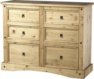 Corona 6 drawer extra wide chest