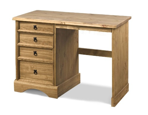 Corona single dressing table with 4 drawers