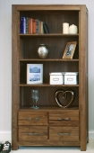Mayan Walnut Large 4 Drawer Bookcase