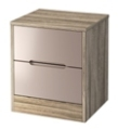 Monaco 2 Drawer Bedside Locker