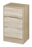 Monaco 3 Drawer Bedside Locker
