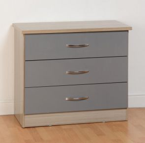 Nevada Grey 3 Drawer Chest