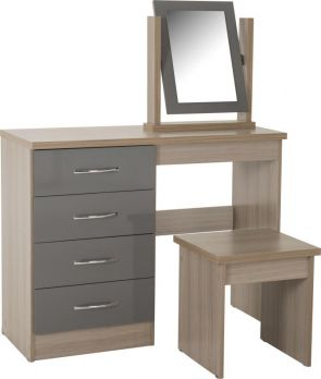 Nevada Grey Nevada 4 Drawer Dressing Table Set