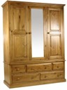 New Wolsingham 3 door 5 drawer robe with mirror