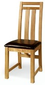 2 x Denver Oak Dining Chairs