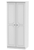 "Pembroke White 2`6"" Double Wardrobe (Clearance)"