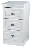 Pembroke 3 Drawer Bedside Locker