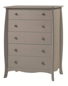 Provence Grey Washed 5 Drawer Chest