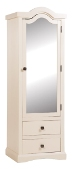 Quebec 1 Mirrored Door 2 drawer Wardrobe