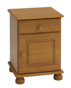Richmond Pine 1 Door 1 Drawer bedside cabinet
