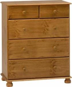 Richmond Pine 3+2 deep drawer chest