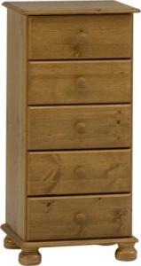 Richmond 5 drawer narrow chest