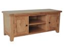 Rustic Oak 2 door large tv cabinet