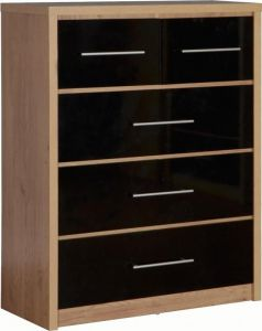 Seville High Gloss 3+2 Drawer Chest