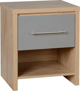 Seville High Gloss 1 Drawer Bedside