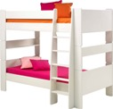 Kids bunk bed, white mdf.