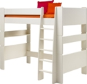 Kids high sleeper bed, white mdf.