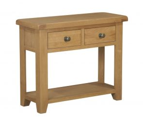 Toronto Oak 2 Drawer Console Table