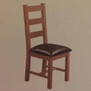 Toronto Oak 2 x Ladder Back Dining Chairs