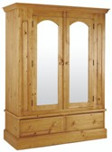Welland Pine 2 Door Wardrobe with Mirror