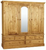 Welland Pine Triple Wardrobe